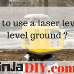how to use laser level to level ground ninjadiy.com