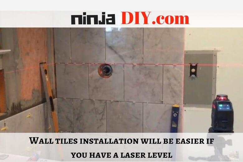 using one of the best laser levels for tiling