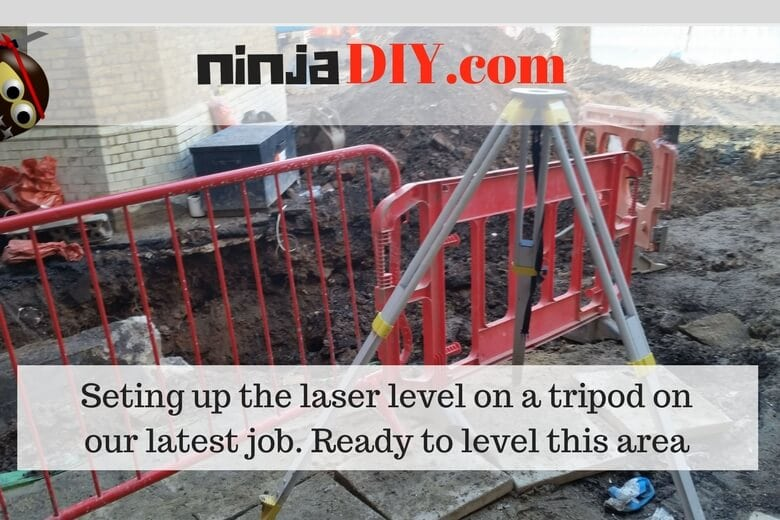 how to set up a laser level to level ground