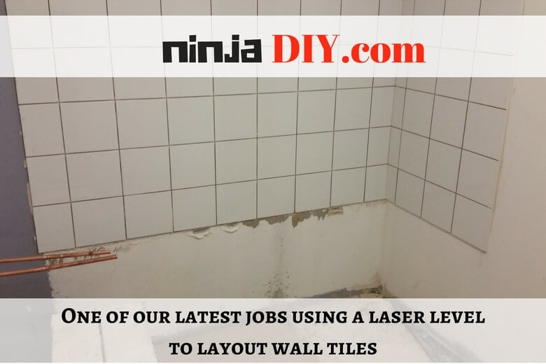wall tiles installation using a laser level