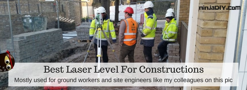 laser level used by the the ground workers and engineers in the construction industry