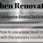 how to use a laser level to install kitchen cabinets