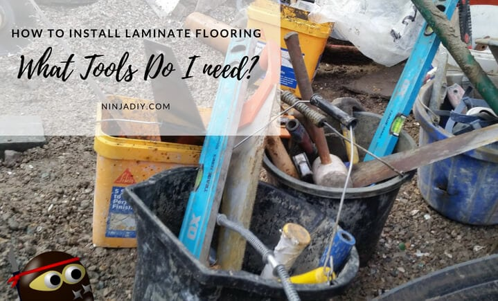 here are the tools that we are going to use to install laminate flooring