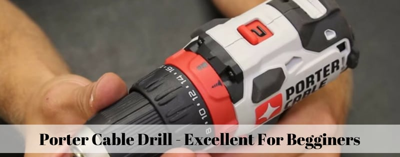 drill gun, one of the tools included in the porter cable power tool kit for home