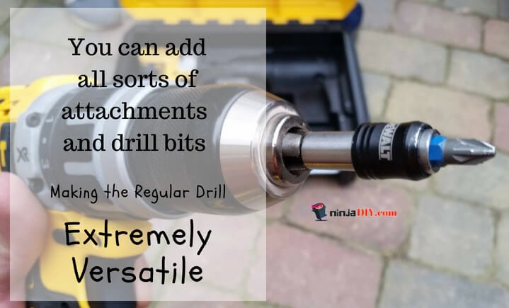 add different attachments and drill bits to the regular drill it's a big difference between impact drill and a regular drill