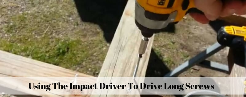 is better a impact driver than a regular drill for driving long screws?