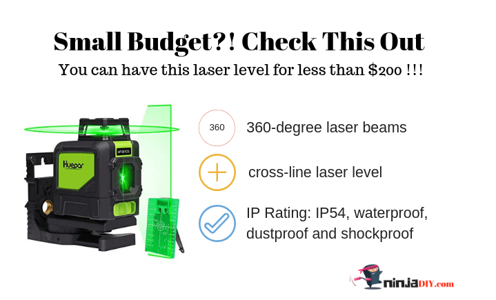 huepar green line laser level for those on tight budgets