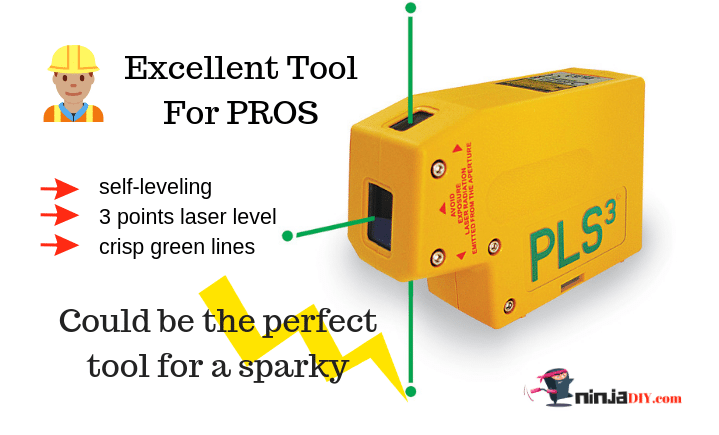 the pls 3, one of the best green dot laser level on the market