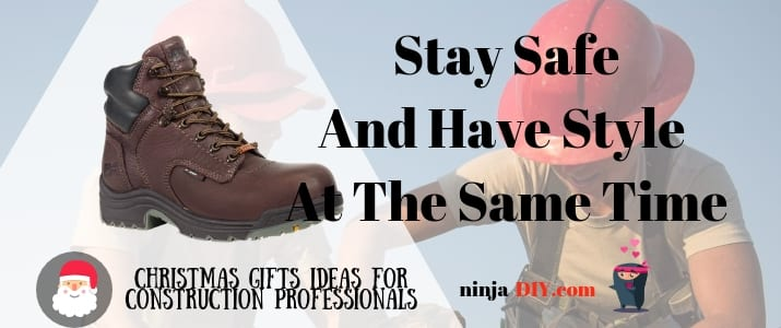 a pair of safety boots one of the best christmas present for women in construction