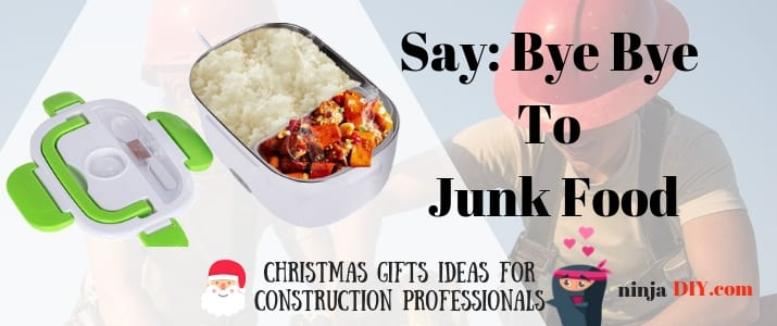 christmas presents for construction workers - an electric lunch box