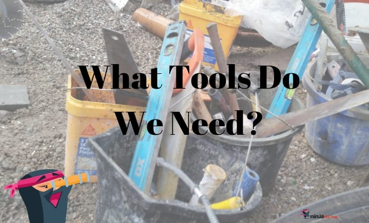 a list of the tools that we need for this job