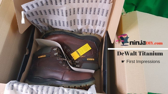 unbloxing my new work boots from dewalt