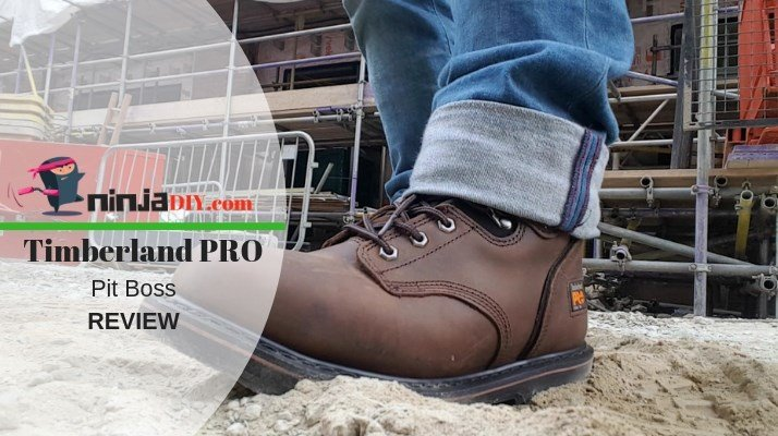 testing my new boot for the Timberland PRO Pit Boss review article