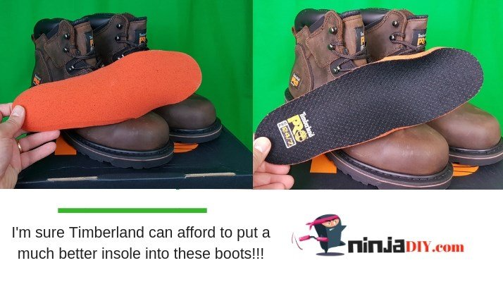 timberland could do a much better job with the insoles, they are very poor quality