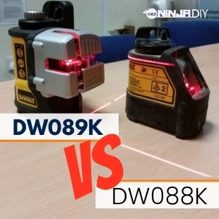 a image of two laser levels from the same brand. we're talking about dw089k laser level and dw088k laser level