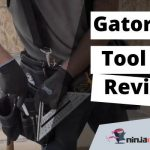 a man with a tool belt around his weist for an article about Gatobrack tool belt reviews