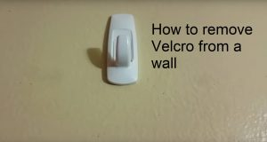 how to remove velcro from the wall