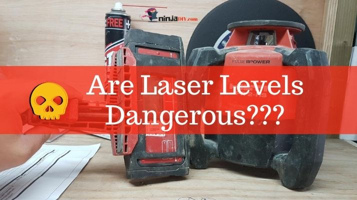 is laser light safe when operating a laser level?