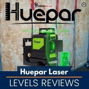 a laser level model from the brand known as Huepar and this images is the featured image of this article that is reviewing some of the best laser levels from Huepar