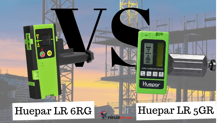a comparison between huepar lr5rg and lr6rg laser receiver