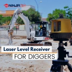 using a rotary laser level to send signals to a excavator machine