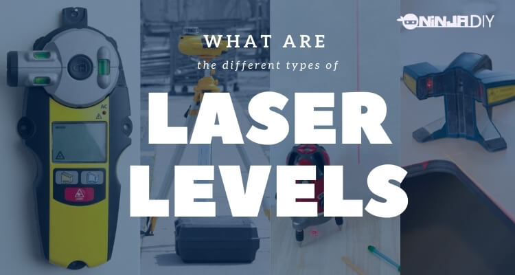 in the image we have 4 different types of laser levels which is the topic for this article