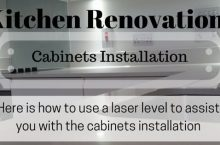 Kitchen Reno?! Here is how to use a laser level to install kitchen cabinets like a ninja