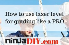 How to use laser level for grading